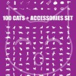 Royalty-Free Stock Imagen vectorial: Great 100 cats and accessories