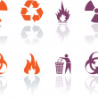 Vector Icons set - danger — Stock Vector