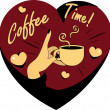 Royalty-Free Stock Vektorfiler: Coffee Lover vector poster