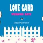 Wedding card, love, congratulations — Stock Vector