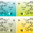 Abstract butterfly and leaves cards set — Stock vektor