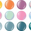 Editable Website button Templates - Stock Vector