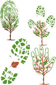 Vector-set of environmental icons — Stock Vector