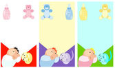 Baby accesories icons set — Stock Vector