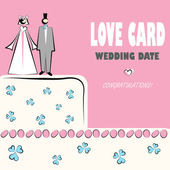 Wedding card, love, — Stock Vector