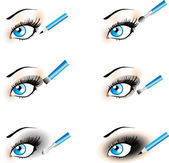Flawless Eye Makeup icons. — Stock Vector