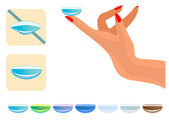 Ilustracja medyczny - soczewki kontaktowe — Wektor stockowy