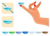 Medizinische illustration - kontaktlinsen — Stockvektor