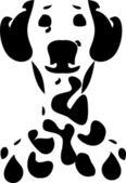 Dalmatian dog potret, card, illustration — Stock Vector