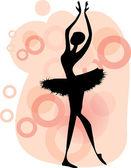 Ballet dancer.Beautiful dancing — Stock Vector