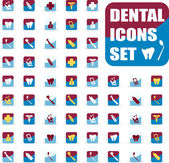 Vector medical dental icons set, — Stock Vector