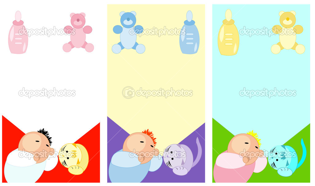 Baby accesories icons set for baby in pastels color. Girls and boys, teddy bear,feeding-bottle . — Stock Vector #1668442