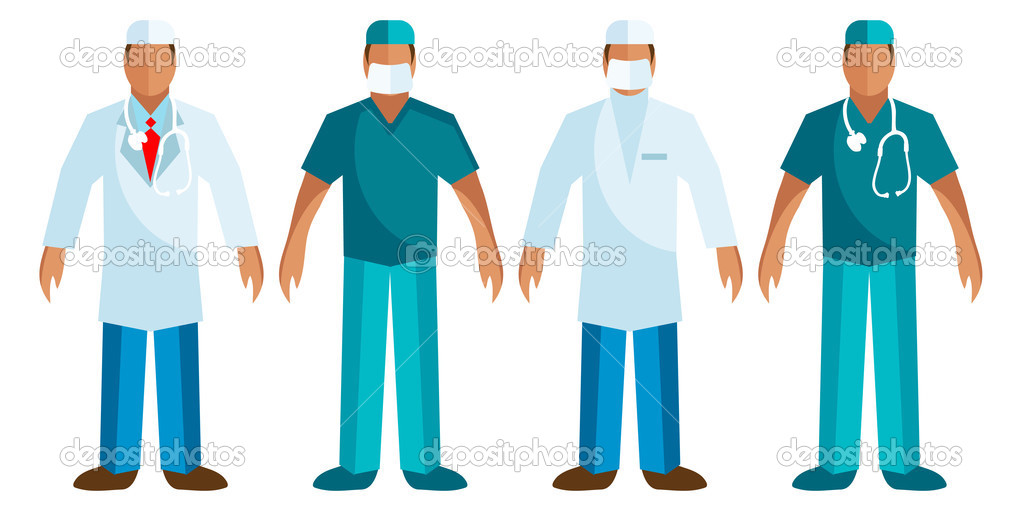 Medical staff - Vector Surgeon, Doctor logo, icons. — Stock Vector #1668534