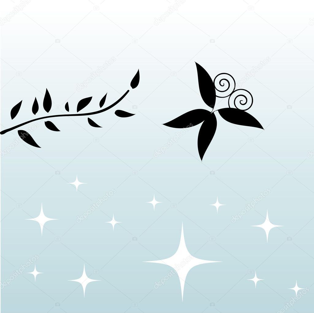 Vector black butterfly card — Stock Vector #1669018