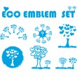 Stock Photo: Ecology web emblem icon,