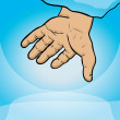God's hand, help symbol — Stock Photo