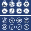 Medicine and Health vector icons in blue — Stock Photo