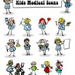 Medical icons set,kids — Stock Photo