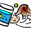 Stock Photo: Medical icon, Cold, Headache, ill
