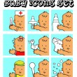 Baby, child vector backgrounds, — Zdjęcie stockowe