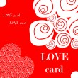 Love fake paper card, heart, — Stock Photo