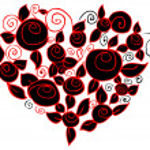 Flower heart — Stock Photo