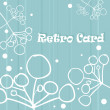 Stock Photo: Retro background flower card
