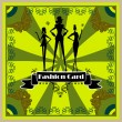 Fashion Woman silhouette card — Stock Photo