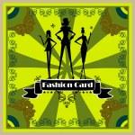 Fashion Woman silhouette card — Stock Photo