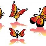 güzel ateş renkli kelebek — Stok fotoğraf