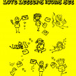 Letters of love icons set, — ストック写真