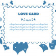 Love fake paper stamp background — Stock Photo #1896421