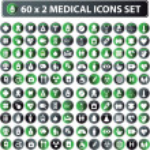 60x2 shiny Medical icons, button web — Stock Photo