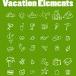 Royalty-Free Stock Photo: Vector vacation icon set, Travel