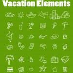 Vector vacation icon set, Travel — Stock Photo