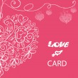 Beautiful vector love card — 图库照片