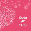 Beautiful vector love card — Photo