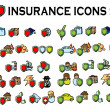 Stock Photo: 50 insurance icons set,