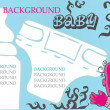 Baby, child vector background, — Stock Photo