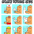Baby, child vector backgrounds — Stock Photo