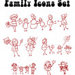 Family icons set, love, sport — Stock Photo