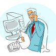 Businessman talking by phone, computer — Stock Photo #1897018
