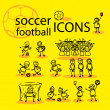 Soccer, football icons set — Stock Photo