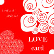 Love fake paper card, heart, flower — Stock Photo #1897043