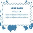 Love fake paper stamp background — Stock Photo
