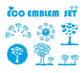 Ecology web emblem icon, — Stock Photo