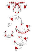 Älska hjärtat designelement, — Stockfoto