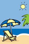 夏の休暇の背景、ポスター — ストック写真