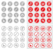 Medicine and Health vector icons — Stock Photo