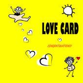 Valentine day fake paper card — Stock Photo